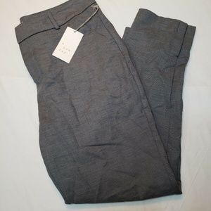 A New Day Gray Slim Ankle Mid Rise Dress Pant Size